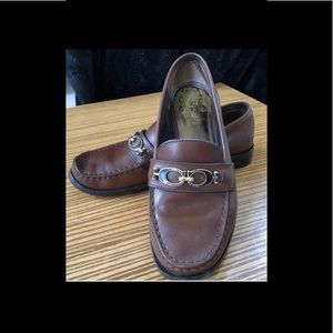 COACH Brown Leather MAHLA Horsebit Loafers